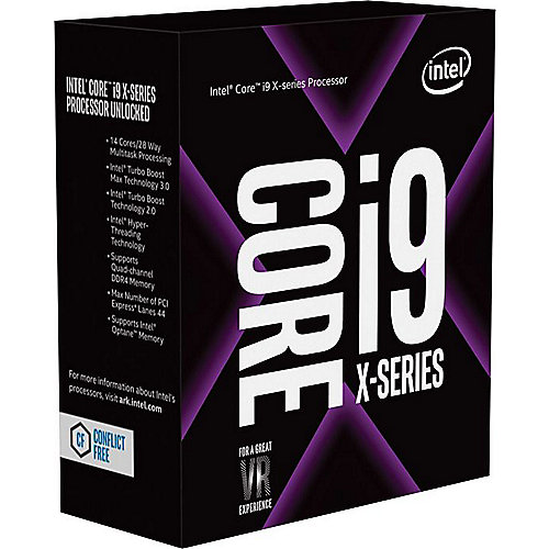Core i9-9820X 10×3,3 (Boost 4,1) GHz 16 MB Cache Sockel 2066 | 5032037146319