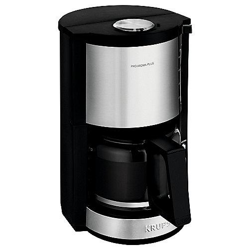 Krups KM3210 Glas-Kaffeemaschine Pro Aroma Plus Schwarz/Edelstahl | 3045386373857