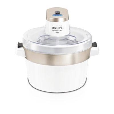 Krups  GVS241 Eismaschine Venice Chrom – Weiß | 3045388183416