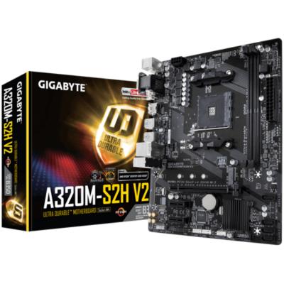 Gigabyte  GA-A320M-S2H V2 mATX Mainboard Sockel AM4 GL/HDMI/DVI/VGA/M.2 | 4719331804725