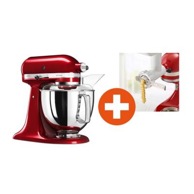 KitchenAid  ARTISAN Küchenmaschine 300W 4,8L liebesapfelrot + Cookie Set | 5413184200480