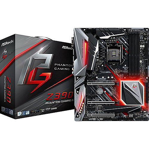 ASRock Z390 Phantom Gaming 6 ATX Mainboard Sockel 1151 2xM.2/1xGL/HDMI/DP/USB3.1 | 4717677337099