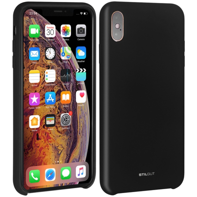 Stilgut  Liquid Silicon Case für Apple iPhone XS MAX schwarz B07GYN5163 | 4260272076288