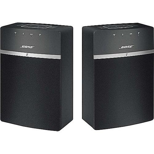 BOSE SoundTouch 10 Schwarz Netzwerk Lautsprecher Doppelpack | 0017817752695