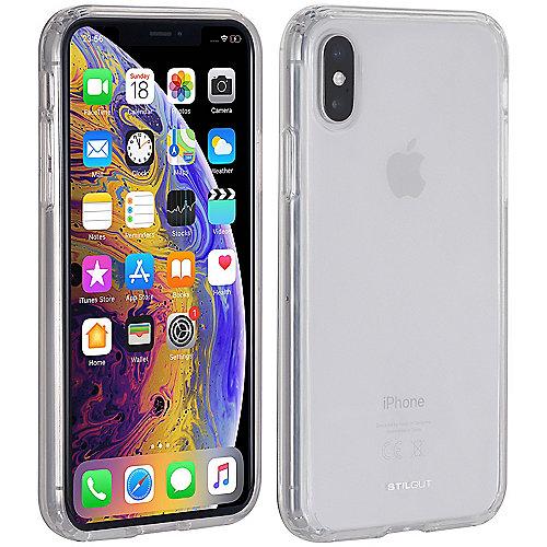StilGut Bumper Hybrid Clear Case für Apple iPhone XS X transparent B07HNQFWN2 auf Rechnung bestellen