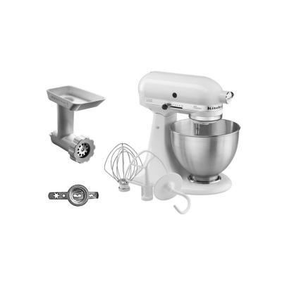 KitchenAid  CLASSIC 5K45SS EWH Küchenmaschine weiss and Cookie Set | 5413184200701