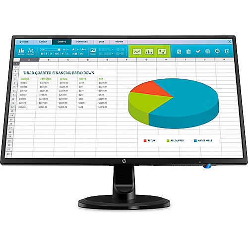 "HP N246V 60,5cm (23.8) FullHD Monitor 16:9 FHD VGA/DVI/HDMI 5ms 10Mio: 1 LED"" | 0192018912120"