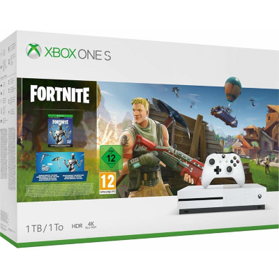 Microsoft  Xbox One S Konsole 1TB Fortnite Bundle | 0889842334609