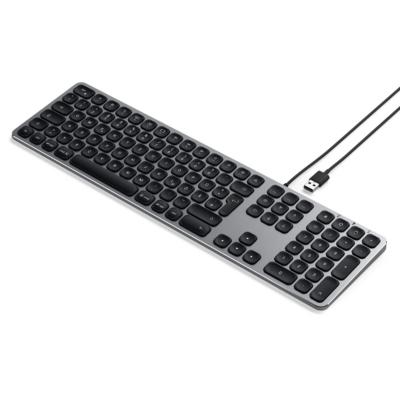 Satechi  Aluminium Tastatur kabelgebunden für Mac space grey | 0879961007744