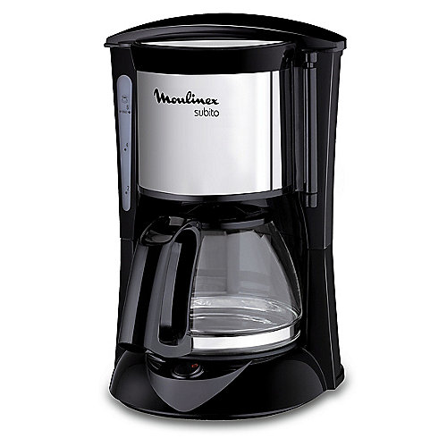 Moulinex FG1508 Glas-Kaffeemaschine Subito Mini Schwarz | 3045386369553