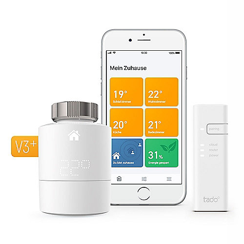 tado° Smart Radiator Thermostat - Starter Kit V3+ inkl. 1 Bridge