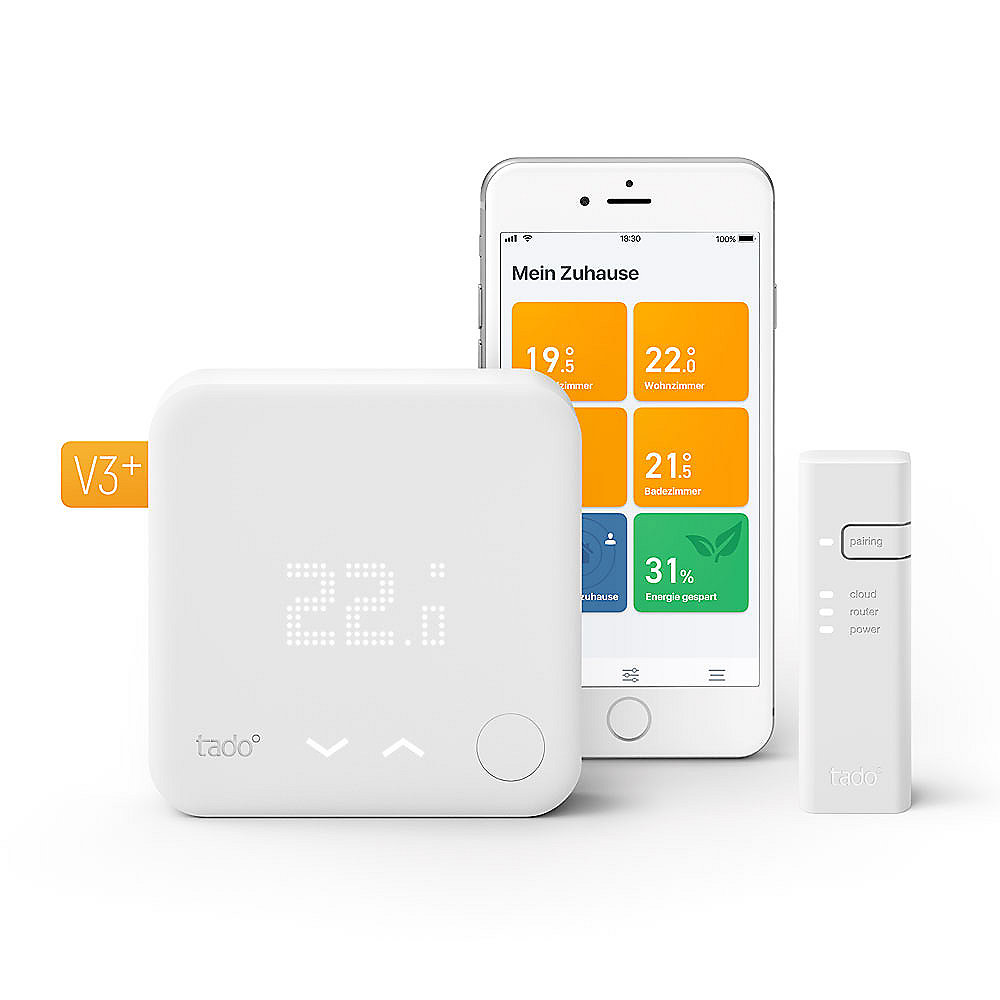 tado° Smart Thermostat - Starter Kit V3+ Inkl. 1 Bridge