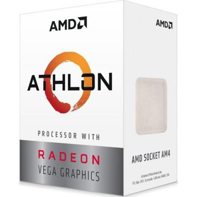AMD  Athlon 240GE (2x 3,5 GHz) mit Radeon Vega 3 Grafik, Sockel AM4 | 0730143309516