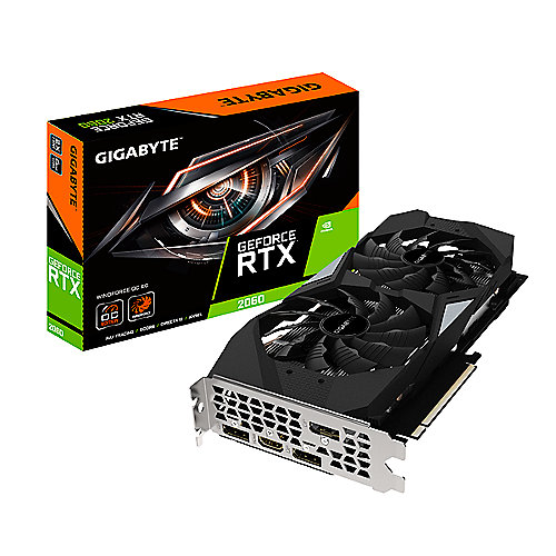 Gigabyte GeForce RTX 2060 WindForce OC 6GB GDDR6 Grafikkarte HDMI/3xDP