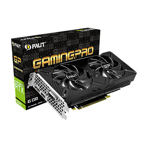 Palit GeForce RTX 2060 GamingPro OC 6GB GDDR6 Grafikkarte DP/HDMI/DVI