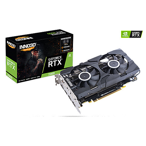 Inno3D GeForce RTX 2060 Twin X2 6GB GDDR6 Grafikkarte 3xDP/HDMI