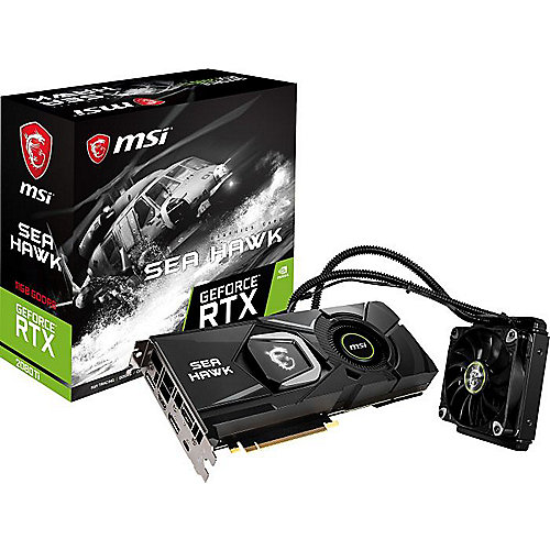 MSI GeForce RTX 2080Ti Sea Hawk X 11GB GDDR6 Grafikkarte 3xDP/HDMI/USB (TypC)