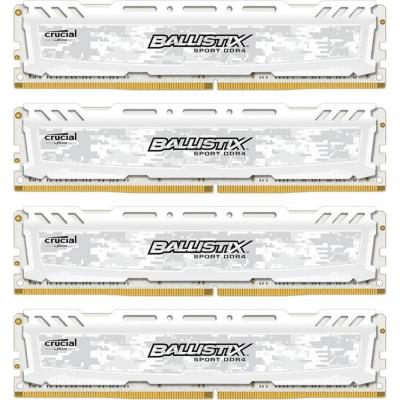 Ballistix 32GB (4x8GB)  Sport LT Weiss DDR4-3200 CL16 (16-18-18) RAM Kit | 0649528789075