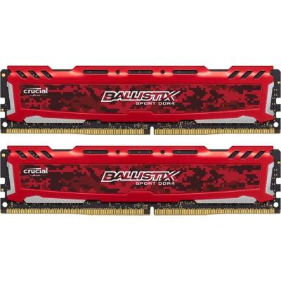 Ballistix 16GB (2x8GB)  Sport LT Rot DDR4-3200 CL16 (16-18-18) RAM Kit | 0649528789181