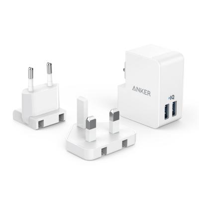 Anker  PowerPort 2 Lite 2 USB Ports 17 W inkl. UK und EU Adapter weiß | 0848061017199