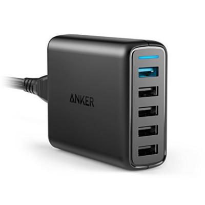 Anker  PowerPort Speed 5 Ladegerät 5-USB-Ports schwarz | 0848061017274