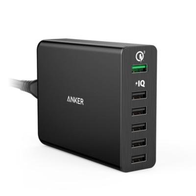 Anker  PowerPort 6 Quick Charge 3.0 6-USB-Port Ladegerät schwarz | 0848061018738