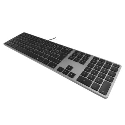 Matias  Aluminum Erweiterte USB Tastatur dt. für Mac OS space grey | 0833742006166