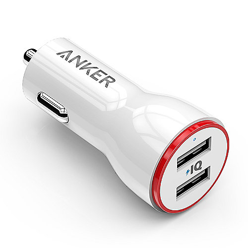 Anker AK-A2310022 Anker PowerDrive 2 24W 2-Port Car Charger (weiss)