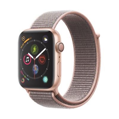 Apple Watch Series 4 GPS 44mm Aluminiumgehäuse Gold mit Sport Loop Sandrosa auf Rechnung bestellen