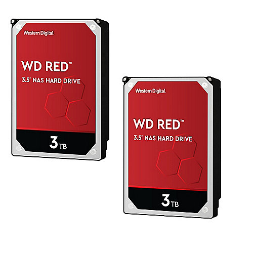 WD Red 2er Set WD30EFRX - 3TB 5400rpm 64MB 3.5zoll SATA600