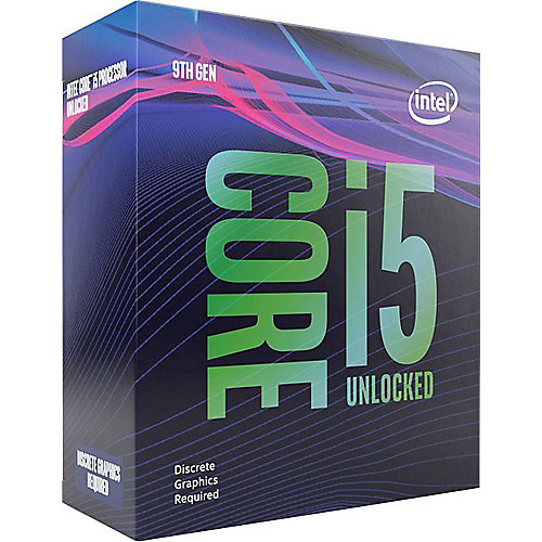 Intel Core i5-9400F 6x2,9 (Boost 4,1) GHz 9MB-L3 Cache Sockel 1151