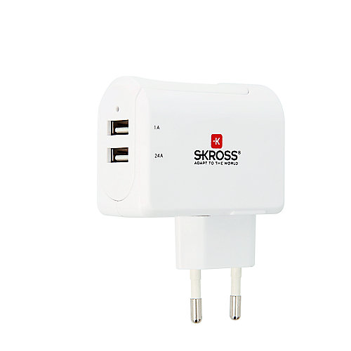 SKROSS Euro USB Charger 2-Port