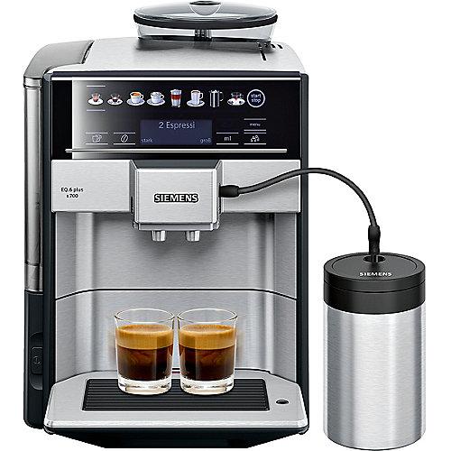 TE657M03DE EQ.6 plus s700 Kaffeevollautomat Edelstahl | 4242003858851