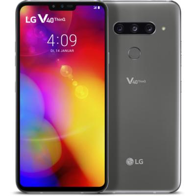 LG  V40 ThinQ 128GB platinum gray Android 8.1 Smartphone | 8806087036572