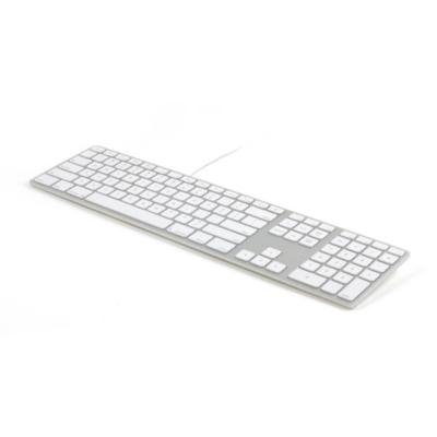 Matias  Aluminum Erweiterte USB Tastatur US-Layout für Mac OS   0833742005411