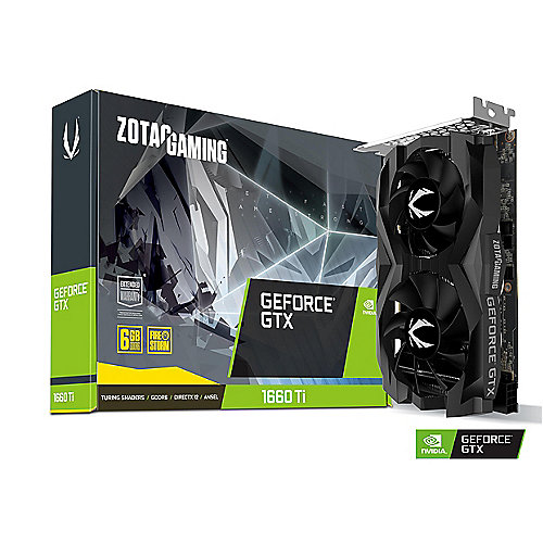 ZOTAC GAMING GeForce GTX 1660Ti Twin Fan 6GB GDDR6 Grafikkarte HDMI/3xDP