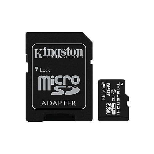 Kingston Industrial Temperature 8 GB microSD Speicherkarte inkl. SD Adapter