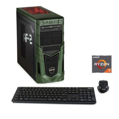 Hyrican  Military Gaming 6163 Ryzen 7 2700 16GB/1TB 240GB SSD Radeon RX 580 W10   4045643061632