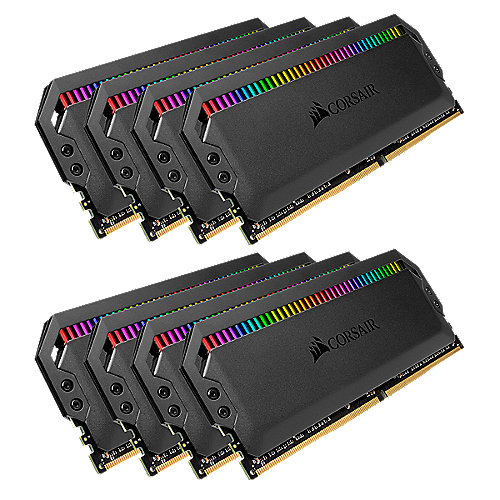 64GB (8x8GB) Corsair Dominator Platinum RGB DDR4-3600 RAM CL18 (18-19-19-39) Kit