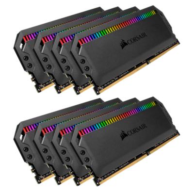 Corsair 64GB (8x8GB)  Dominator Platinum RGB DDR4-3200 RAM CL16 (16-18-18-36) Kit | 0840006607472