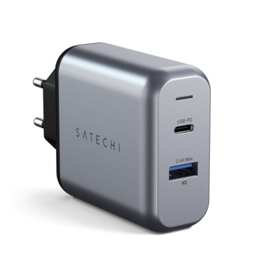 Satechi  30W Dual-Port Wall Charger Space Grey | 0879961008130