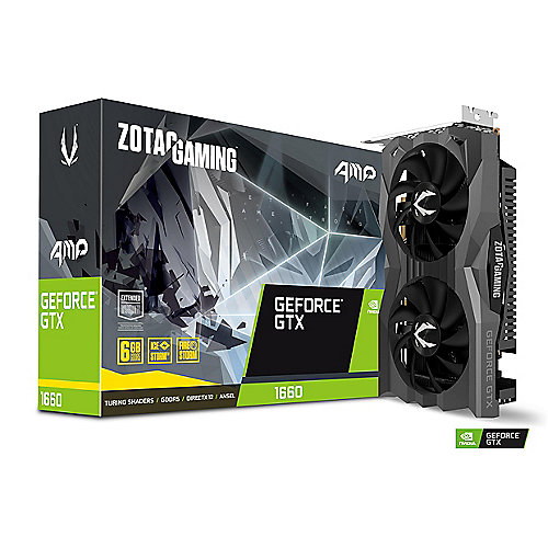 ZOTAC GAMING GeForce GTX 1660 AMP! Edition 6GB GDDR5 Grafikkarte HDMI/3xDP