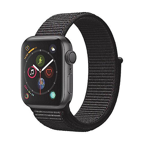 Apple Watch Series 4 GPS 40mm Aluminiumgehäuse Space Grau mit Sport Loop Schwarz