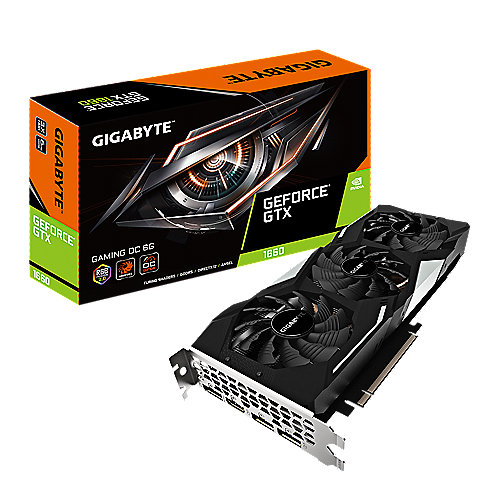 Gigabyte GeForce GTX 1660 Gaming OC 6GB GDDR5 Grafikkarte HDMI/3xDP
