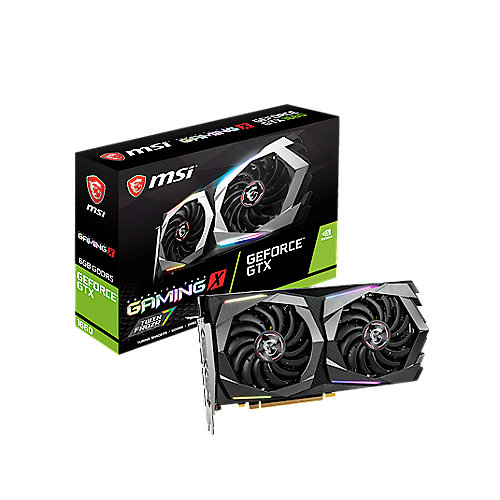 MSI GeForce GTX 1660 Gaming X 6G 6GB GDDR5 Grafikkarte HDMI/3xDP