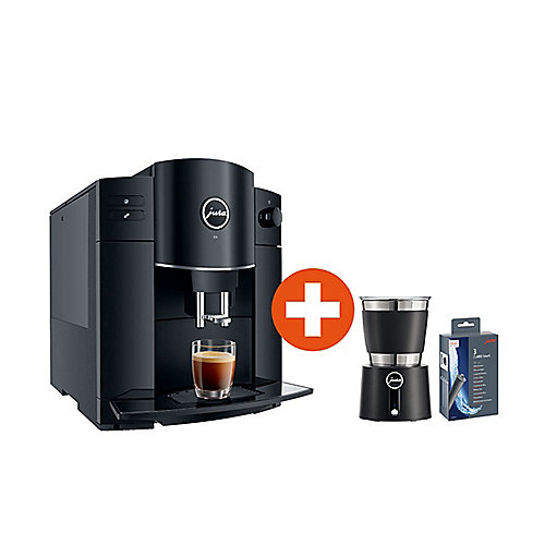 JURA D4 Piano Black Kaffeevollautomat + Milchschäumer Hot & Cold + CLARIS Smart