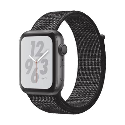 Apple Watch Nike GPS 44mm Aluminiumgehäuse Space Grau Sport Loop Schwarz auf Rechnung bestellen