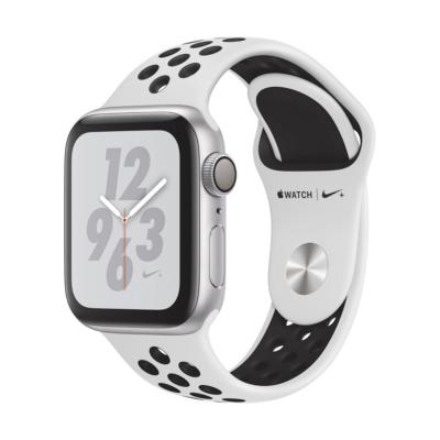 Apple Watch Nike GPS 40mm Aluminiumgehäuse Silber Sportarmband Platinum Schwarz auf Rechnung bestellen