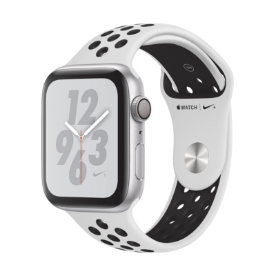 Apple Watch Nike GPS 44mm Aluminiumgehäuse Silber Sportarmband Platinum Schwarz auf Rechnung bestellen