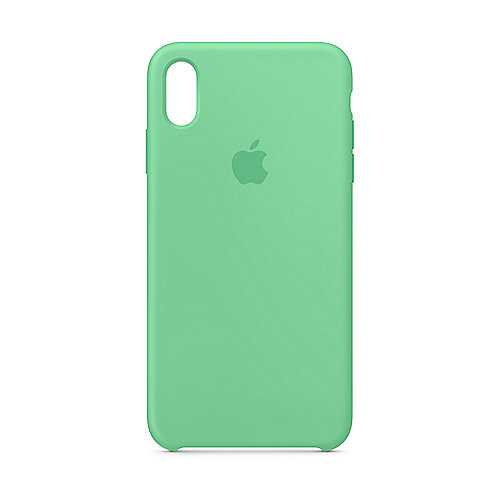 Apple Original iPhone XS Max Silikon Case-Minzgrün